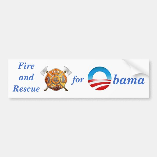 Fire & Rescue for Obama Bumper Sticker