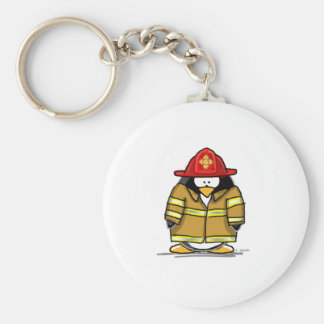 Fire Rescue Penguin Keychain