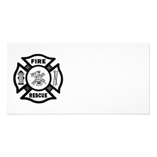 Fire Rescue Customized Photo Card