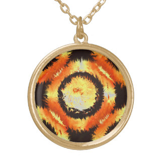Fire Rings The Necklace. Round Pendant Necklace