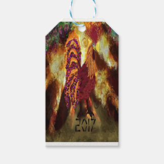 Fire Rooster 2017 Pack Of Gift Tags