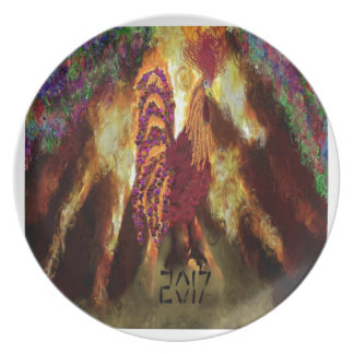 Fire Rooster 2017 Party Plate
