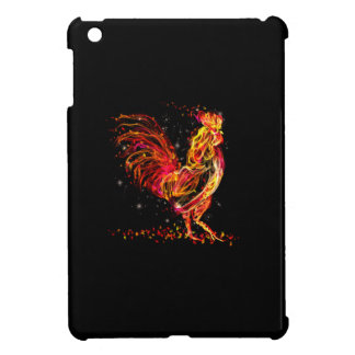 Fire rooster. Flaming animal sparkle cool design iPad Mini Cover