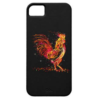 Fire rooster. Flaming animal sparkle cool design iPhone 5 Cover
