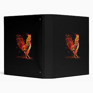 Fire rooster. Flaming animal sparkle cool design Vinyl Binders