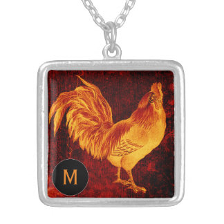 Fire Rooster Year2017 Monogram Necklace