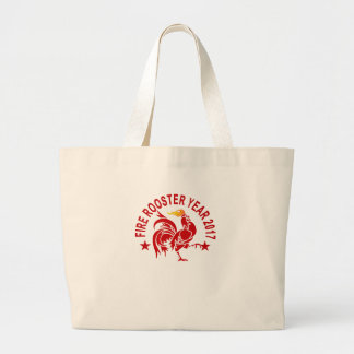 FIRE ROOSTER YEAR 2017 '. LARGE TOTE BAG