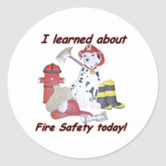 Fire safety sticker