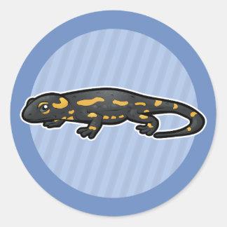 Fire Salamander Classic Round Sticker