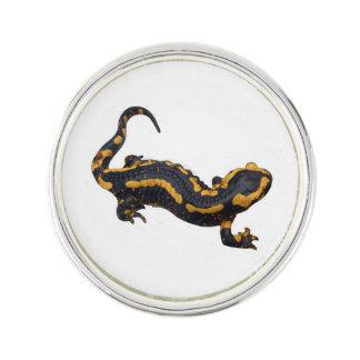 Fire Salamander Round Lapel Pin