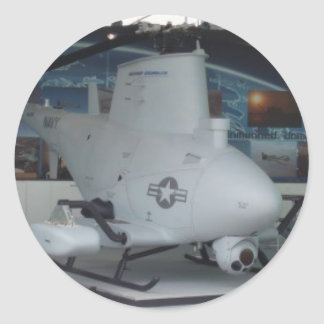 FIRE SCOUT unmanned helicopter Round Sticker
