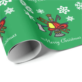 Fire Service  Icon Logo Christmas Gift Wrap