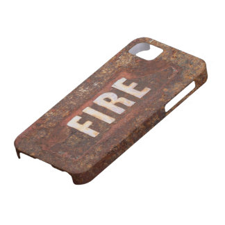 Fire sign on rusted steel plate. Gift for fireman? Case For The iPhone 5