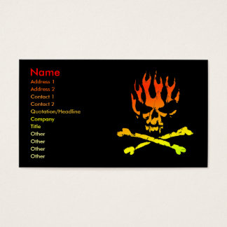 Fire Skull Business/ Profile Card