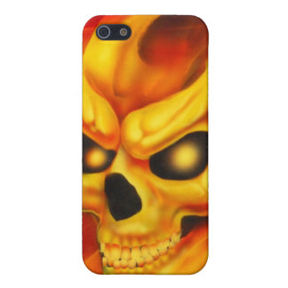 Fire Skull Speck Case Case For iPhone 5/5S