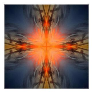 Fire Sky Cloud Mandala Art Photo