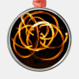 Fire Spinning - Celtic Knot Metal Ornament