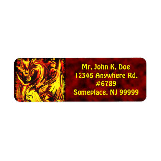 Fire Spirit Return Address Label