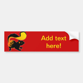 Fire Squirrel Bumper Sticker