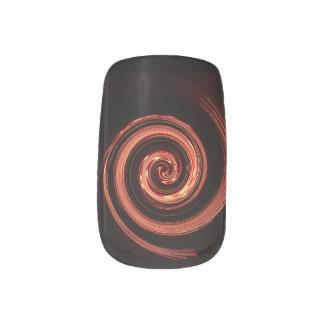 Fire Swirl Nail Sticker