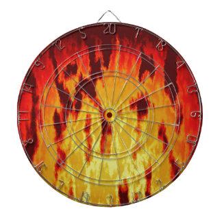 Fire texture dartboard