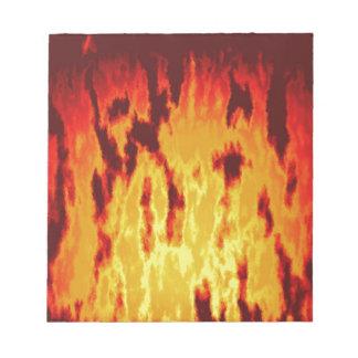 Fire texture notepad