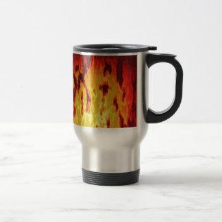 Fire texture travel mug