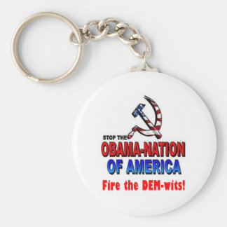 Fire the Dem-wits Basic Round Button Keychain