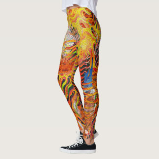 Fire Tiger Koi Leggings