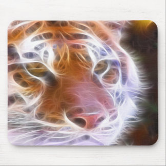 fire tiger mouse pad