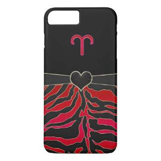 Fire Tiger Zodiac Sign Aries iPhone 7 Plus Case