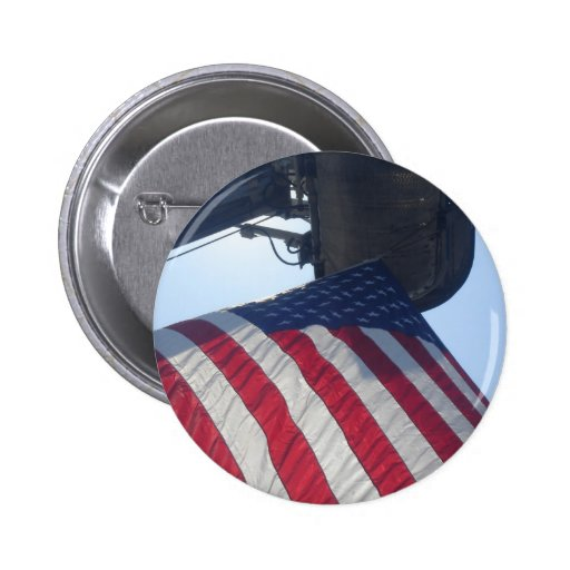 Fire Truck American Flag Aerial Tower Pin