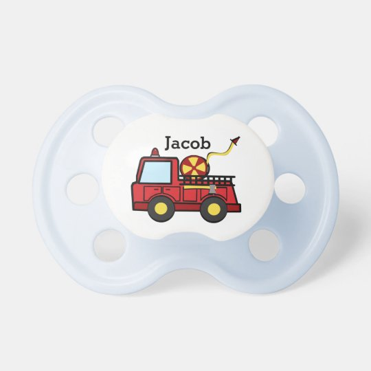 Fire Truck Baby Baby Pacifier