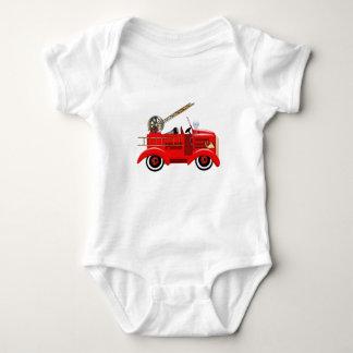 Fire Truck Baby Bodysuit