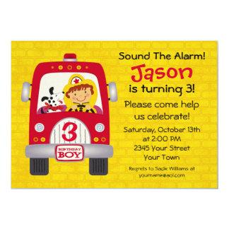 Fire Truck Birthday Boy Card