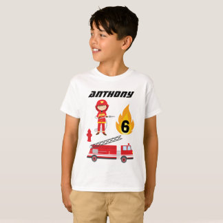 Fire Truck Birthday Party T-Shirt