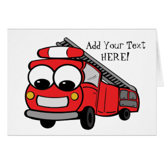 Fire Truck - Card