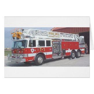 fire truck card