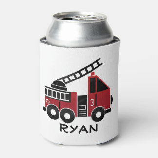 Fire truck custom can cooler