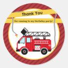 Fire Truck Firefighter Thank You Sticker