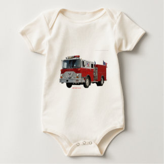 Fire_Truck_Flags. Baby Bodysuit