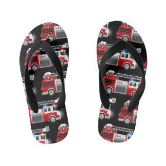 Fire truck kid's flip flops