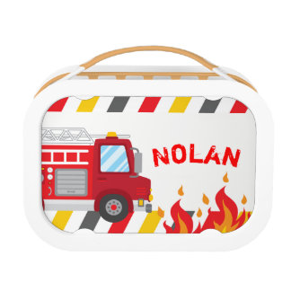 Fire truck Lunch box, Boys School Lunch box