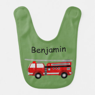 Fire Truck Named Bib