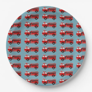 Fire truck Party Birthday Gift Wrapping Paper Paper Plate