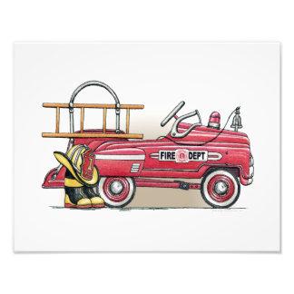 Fire Truck Pedal Car Art Photo