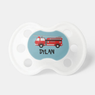 Fire truck Personalised Custom Pacifier
