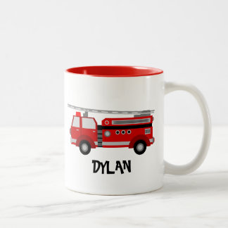 Fire Truck Personalised Mug