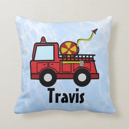 Fire Truck Personalized Throw Pillow