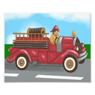 Fire truck photo print